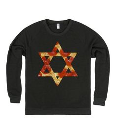 pizza star of david ugly hanukkah interfaith tee t shirt t-shirt top
