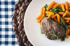Beef steak with carrots and green beans  - download this beautiful picture in hi-res for FREE from foodiesfeed.com / #free #download #hires #foodphotography #food #picture #photography #design #nocopyright #beef #steak #vegetables #paleo #primal #receipt Free food pictures