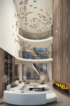 The Netherlands' most expensive penthouse – The Box Das teuerste Penthouse der Niederlande The Box Luxury Homes Interior, Luxury Home Decor, Luxury Apartments, Best Interior, Modern Interior Design, Foyers, Design Azul, Mansion Rooms, Houses Architecture