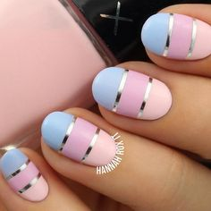 Colorful oval shaped manicure decided by golden stripes. latest nail art designs galleryelegant nail designs for short nails best nail stickers nail art sticker stencils best nail wraps 2019 Different Nail Designs, New Nail Designs, Nail Designs Spring, Spring Nails, Summer Nails, Acrylic Nails, Gel Nails, Stiletto Nails, Coffin Nails
