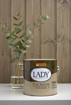 """LADY Pure Nature [By staining rather than painting the wood, the grain shows through. Nina chose Lady Pure Nature 9044 Kullsort, a stain from Jotun of Norway. """"I used a cloth to rub it in,"""" she told us. """"With two layers, it looked dark brown; three layers made it black.""""] Wood, Interior, Shabby, Stain, Home Decor, Jotun Lady"""