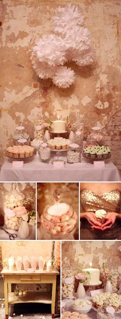 Candy bar inspiration x Vintage Candy Bars, Our Wedding, Wedding Vintage, Wedding Bells, Summer Wedding, Wedding Dress, Candy Table, Wedding Beauty, Pink And Gold