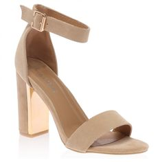 Alana Nude Block Heeled Sandal