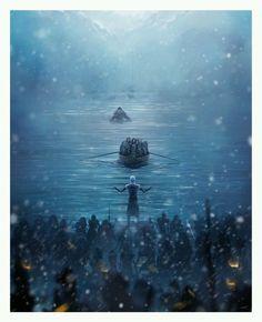 Game of Thrones Hardhome Andy Fairhurst Signed Print Poster Mondo Jon Snow Art | eBay