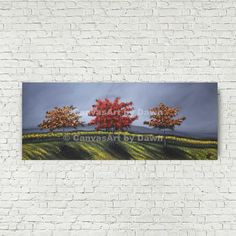 This item is unavailable Tree Wall Art, Tree Art, Autumn Art, Autumn Trees, Red Tree, Acrylic Art, Abstract Wall Art, Artist Canvas, Landscape Paintings