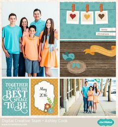 Digital pocket page by Ashley Cook featuring the I Love Family collection from Echo Park Paper available at www.snapclicksupply.com #digitalscrapbooking