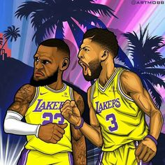 The dynamic duo of LeBron James and Anthony Davis Lebron James Lakers, King Lebron James, King James, Mvp Basketball, Basketball Legends, Nba Pictures, Basketball Pictures, Lakers Wallpaper, Best Nba Players