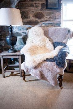 sheepskin pile up!  £56 each #cosy #hygge
