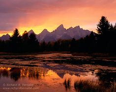 Fire in the Sky, Grand Teton National Park, Wyoming