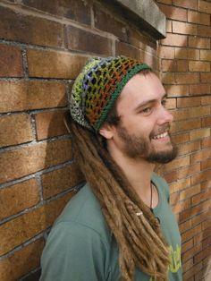 Earthy Crochet Dread Wrap    unisex   by HorizonsEd3e on Etsy