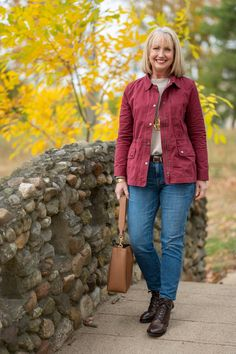 Autumn Day Trip Outfit - casual fall outfit for women over 50 - over 50 fashion for fall and winter - talbots safari jacket Casual Fall Outfits, Winter Fashion Outfits, Day Trip Outfit, Over 50 Womens Fashion, 50 Fashion, Everyday Outfits, Fashion Advice, Dress Outfits, Clothes For Women