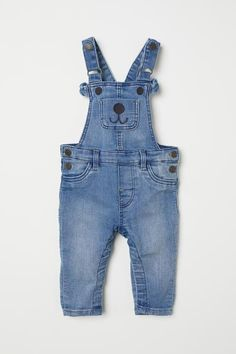 Denim Bib Overalls - Light denim blue - Kids  f66c3ae557513