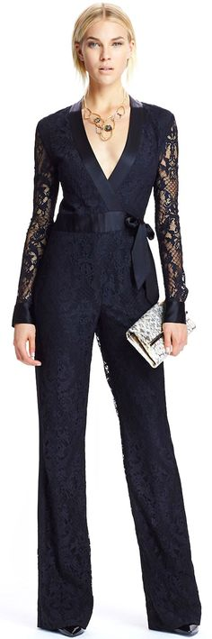 Sexy And Chic Jumpsuit Fashion Ideas Mode Chic, Mode Style, Jumpsuit Damen Elegant, Lace Jumpsuit, Retro Fashion, Womens Fashion, Fashion 2014, Fashion Black, Fashion Ideas
