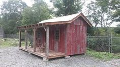This is from the show Barnwood builders . Believe it or not this is made using a metal storage container and covered with old barn board. Storage/woodshed for Cabin Rustic Shed, Rustic Wooden Box, Metal Storage Sheds, Metal Shed, Barnwood Builders, Wooden Box Centerpiece, Simple Shed, Container Cabin, Shed Kits