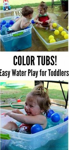 Toddler Water Play: Color Tubs