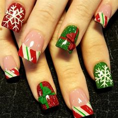 xmas presents by Oli123 from Nail Art Gallery