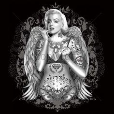 Marilyn Monroe Wings & Tattoos- 909threads | 909threads