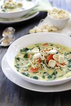 Lemon Chicken and Orzo Soup:  What's the point of soup if there aren't oyster crackers on top? - Delish.com