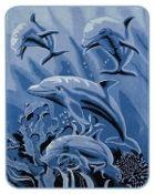 4 Dolphins Mink Blanket