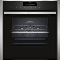 Neff B48FT78N0B 60cm Electric Single Oven. Brand New 2015 range! Built-in oven with FullSteam and SLIDE&HIDE® - combining all heating types and steam cooking in a single oven with unrestricted access #neffsingleoven #neff2015 #slideandhide