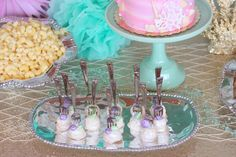 Sweets from this Under the Sea Birthday Pool Party at Kara's Party Ideas. See more at karaspartyideas.com!
