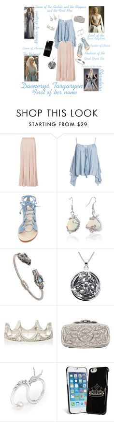 """Daenerys Targaryen"" by caitlyn-r-ford ❤ liked on Polyvore featuring BCBGMAXAZRIA, Sans Souci, Cornetti, Bling Jewelry, NOVICA, Carolina Glamour Collection, Cathy Waterman, Oscar de la Renta and Vera Bradley"