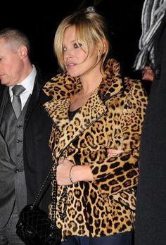 Vintage leopard coat. Kate Moss.