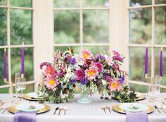 purple, pink and mint tablescape | Kayla Barker Fine Art Photography