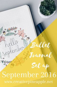 Bullet Journal Setup September 2016: Here's how I set up my bullet journal for…