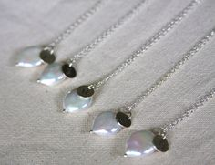 Wedding/Bridesmaid jewelry coin pearl with a by HollyMackDesigns, $128.00