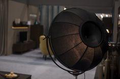Lampa stojąca do wnętrz vintage Malmo F01499BK