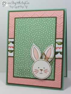 Stampin' Up! Friends & Flowers Bunny Card