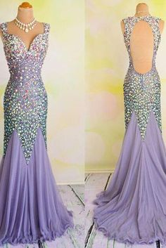 Prom Dresses,Chiffon Prom Dress,Sexy Prom Dress,Mermaid Prom Dresses,Backless Formal Gown,Open Back Evening Gowns,Sparkly Formal Dress,Prom Gown For Teens PD20183661
