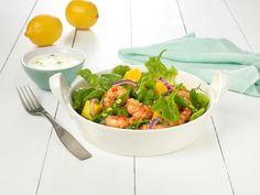 I hverdagen er det ofte godt med en rask middagssalat. Da kan vi anbefale scampi stekt i kryddersmør, blandet med mango og frisk grønn salat.