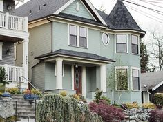 seafoam houses in Queen Anne | Flickr - Photo Sharing!