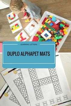 Use these Duplo blocks mats for fun letter learning FUN.