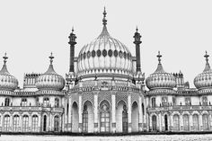 The Royal Pavilion Brighton by Huxyshot on Etsy