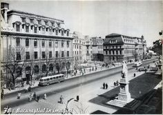 Bucurestiul in ilustrate R. Paris, Bucharest Romania, Old City, Old Pictures, Time Travel, Old World, Louvre, Memories, Dan
