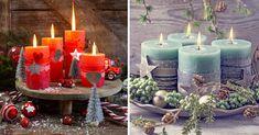Le candele portano in casa un'atmosfera intima e calda. Farne delle decorazioni natalizie è la scelta migliore per abbellire la casa con un fai da te creativo Christmas Candle, Pillar Candles, Home Decor, Wax, Homemade Home Decor, Interior Design, Home Interior Design, Decoration Home, Taper Candles