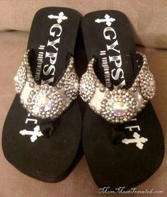 a5c1f8803ce02f gypsy soule - Google Search Bling Flip Flops