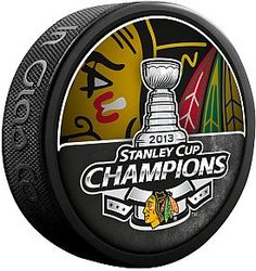The official 2013 Stanley Cup Champion replica puck.