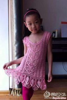 Vestido tejido para niña de 6 años