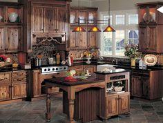 COCINA RÚSTICA http://www.bonitadecoracion.com/2012/09/estilos-modelos-disenos-de-cocinas-comedores-fotos-.html