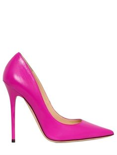 Jimmy Choo 120MM ANOUK LEATHER POINTED PUMPS