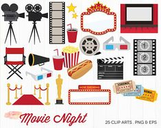 BUY 2 GET 1 FREE movie award clipart / movie night clipart / movie clipart / movie clip art / cinema clipart / commercial use ok Pink Movies, Get Movies, Musical Instruments Clipart, Movie Clipart, Hollywood Theme, Movie Tickets, Clip Art, Music Clips, Cinema Film