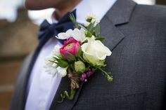 Buttonhole by Paperwhite Flowers www.paperwhiteflowers.co.uk