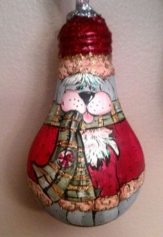 Items similar to Hand Drawn & Painted Christmas Dog Light bulb. Makes for a great ornament! on Etsy Recycled Light Bulbs, Painted Light Bulbs, Light Bulb Art, Light Bulb Crafts, Handpainted Christmas Ornaments, Christmas Light Bulbs, Christmas Craft Projects, Theme Noel, Christmas Dog