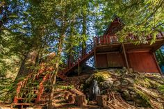 This is a 580 sq. Off-Grid A-Frame cabin for sale in Skykomish, WA and you're invited to come on in to take the full tour and learn more inside! A Frame House Plans, A Frame Cabin, Roof Styles, House Styles, Cabins For Sale, Rustic Loft, Off Grid Cabin, Barn Parties, Lakefront Property