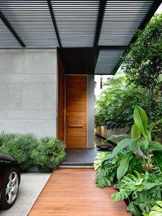Landscape Design for House Entrance . Landscape Design for House Entrance . Modern Wood Doors, Modern Front Door, Wooden Front Doors, Front Door Entrance, House Front Door, Front Door Design, Entrance Design, House Entrance, Entrance Ideas