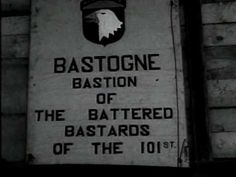"""Dec. 1944 German artillery started the Battle of the Bulge by attacking American troops around Bastogne. A few days later, Brigadier General McAuliffe and the 101st Airborne Division, elements of the 10th Armored Division and 82nd airborne arrived to counter-attack but, after heavy fighting, became encircled within the town. Germans asked for Americans surrender, to which the General answered """"Nuts!"""" The next day, the weather cleared up, allowing air retaliation leading to Allied success"""